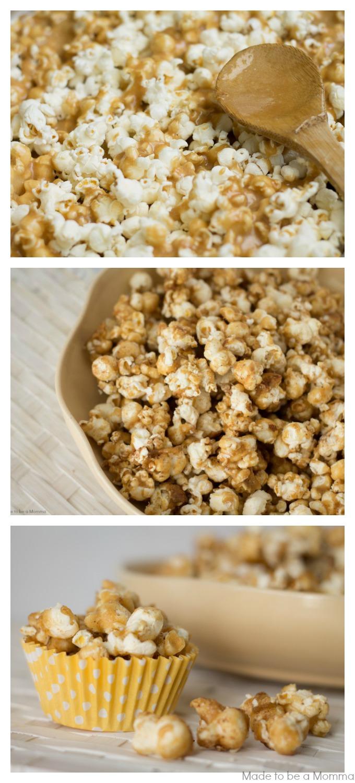 Pumpkin Spice Caramel Popcorn - Made To Be A Momma