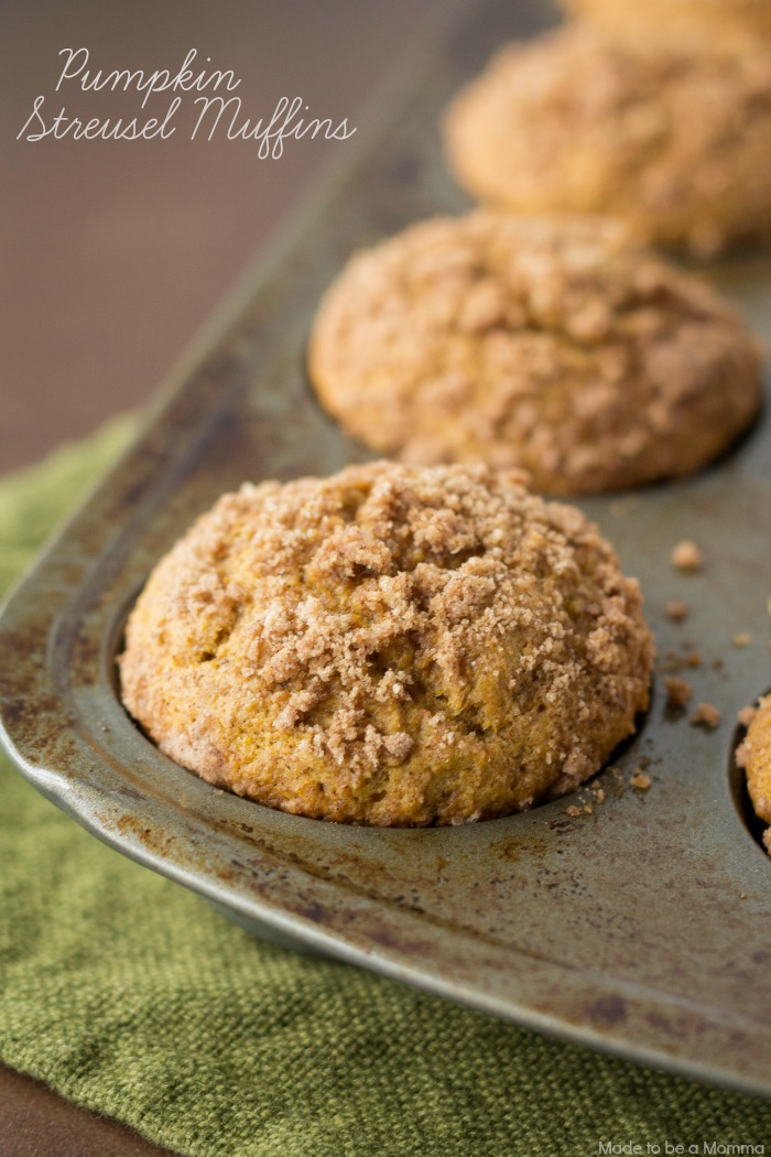 Pumpkin muffins topped with a delicious streusel topping makes these ...