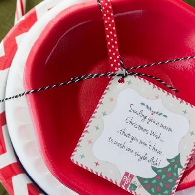 """""""No Dishes"""" Christmas Gift: Free Printable"""
