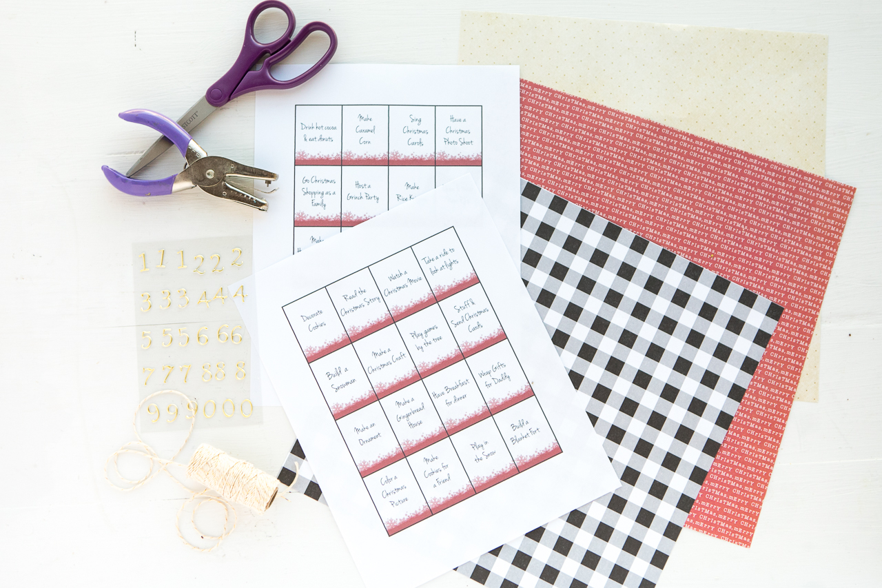 advent calendar printables and pocket supplies