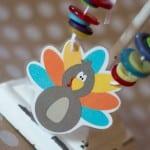 DIY Thanksgiving turkey necklace children's craft project