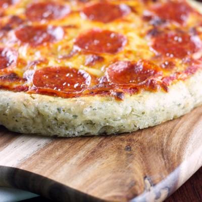 Garlic & Herb Cake Pan Pizza