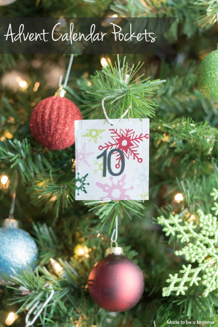 Advent Calendar Pockets: perfect for your Christmas Tree!