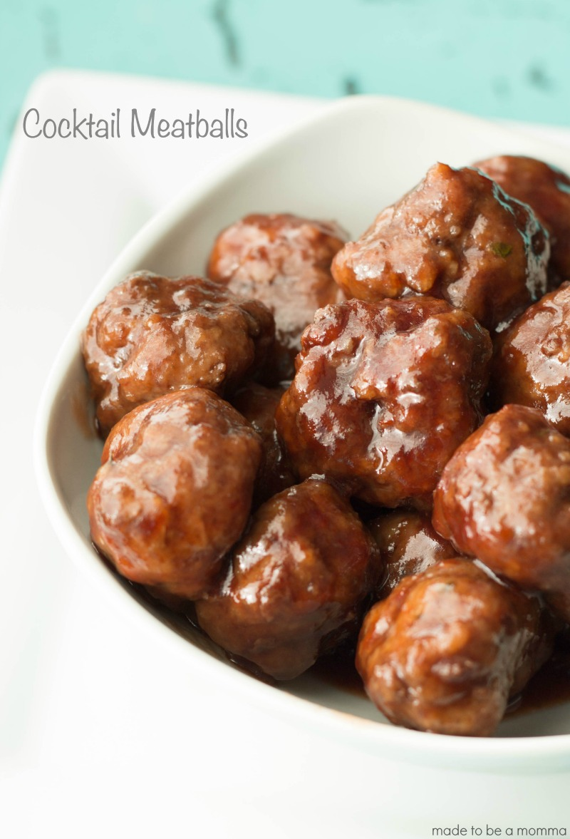 Cocktail Meatballs- a delicious and simple party appetizer!