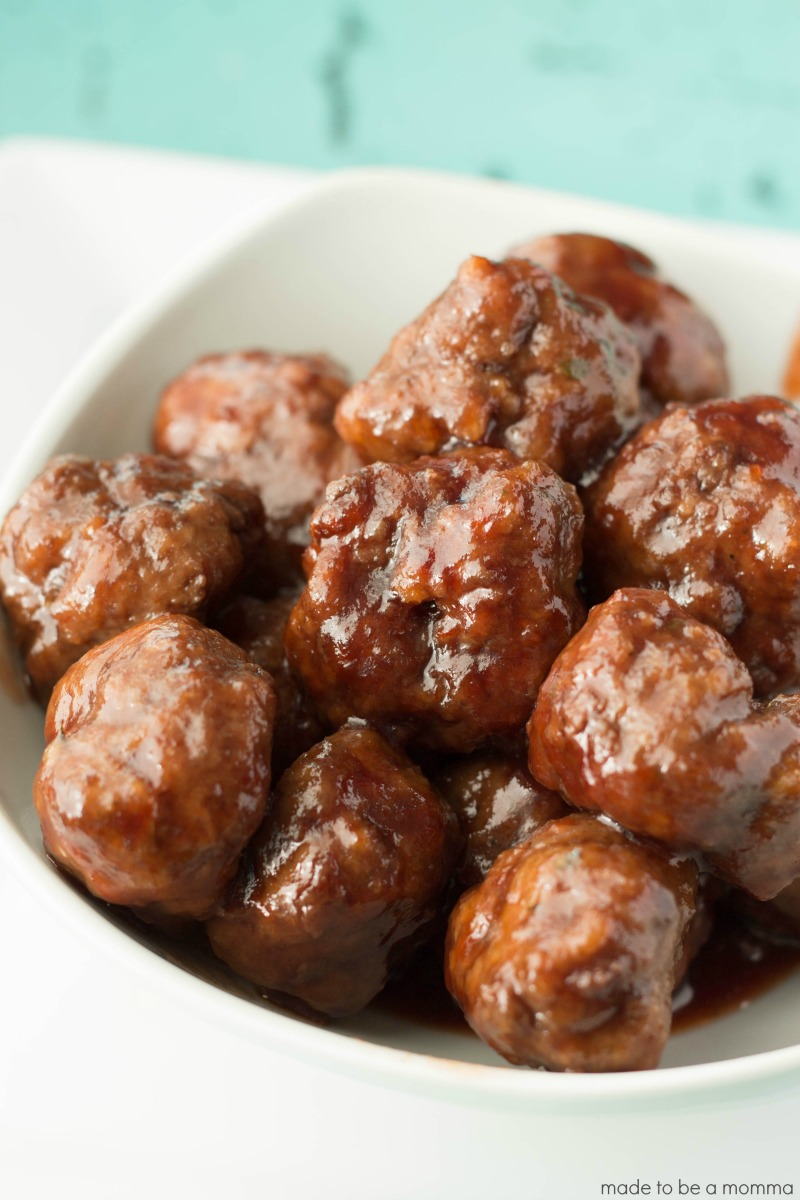 Cocktail Meatballs-Made to be a Momma