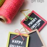 Mini Chalkboard Gift Tags