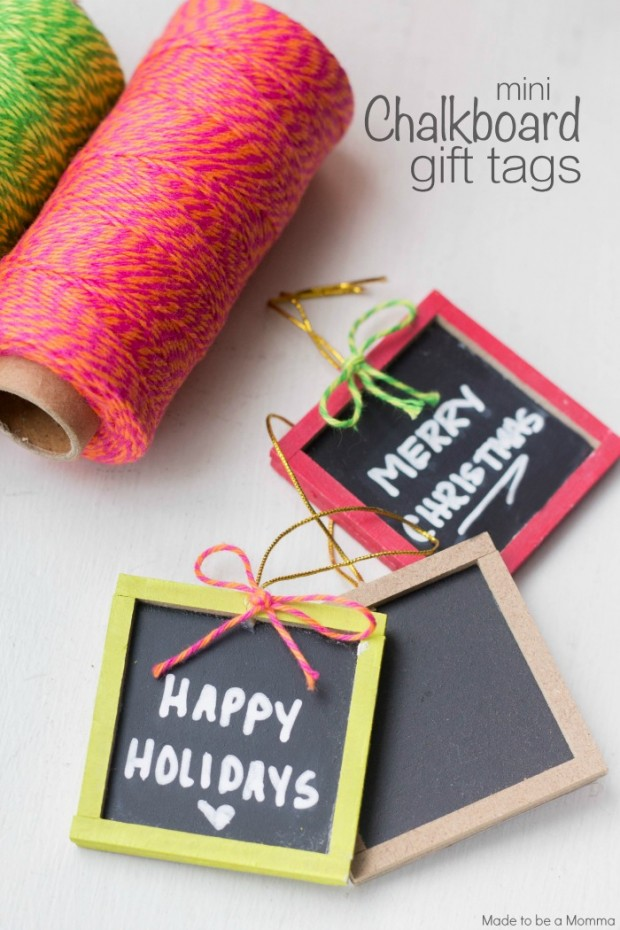 Mini Chalkboard Gift Tags