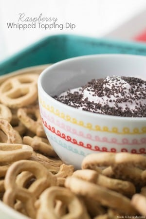 Raspberry Whipped Topping Dip