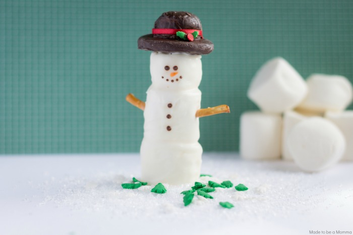 Snowman with Cookie Hat