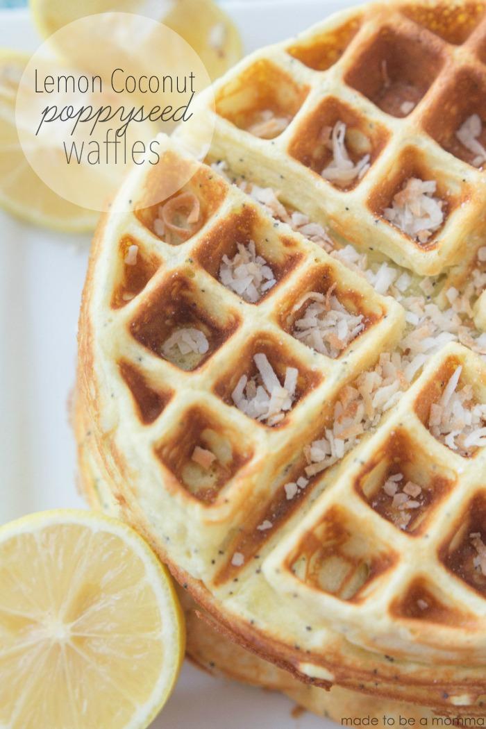 Lemon Coconut PoppySeed Waffles