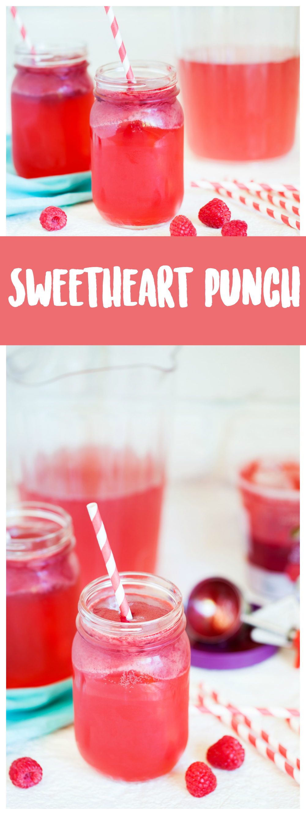 Sweetheart punch is a delicious drink recipe that your guests will love! This beverage is perfect all-year round and is pretty to serve for any occasion!