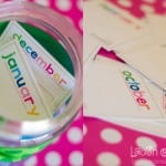 Free printable monthly memory cards