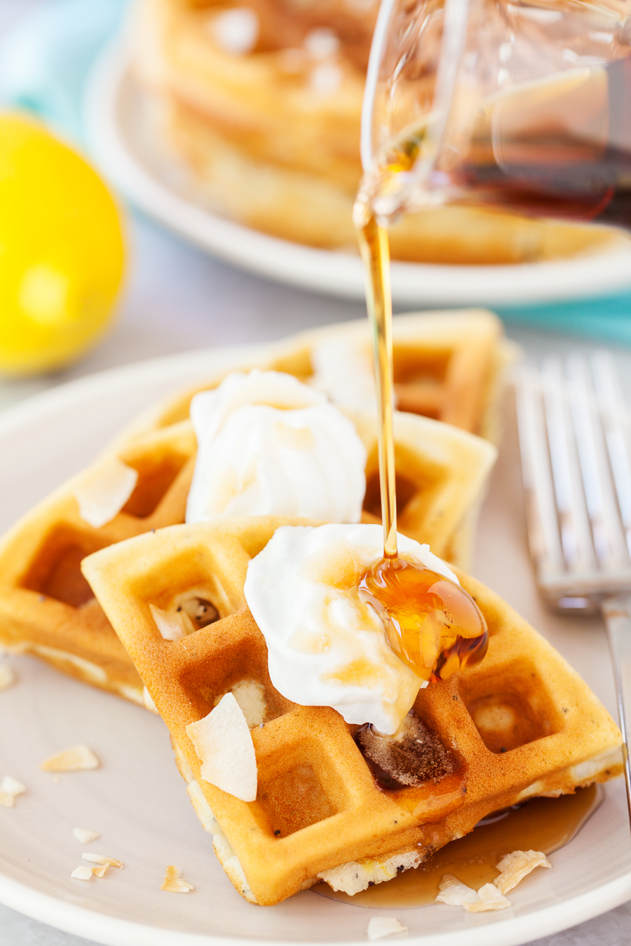 Lemon Poppyseed Waffle Recipe