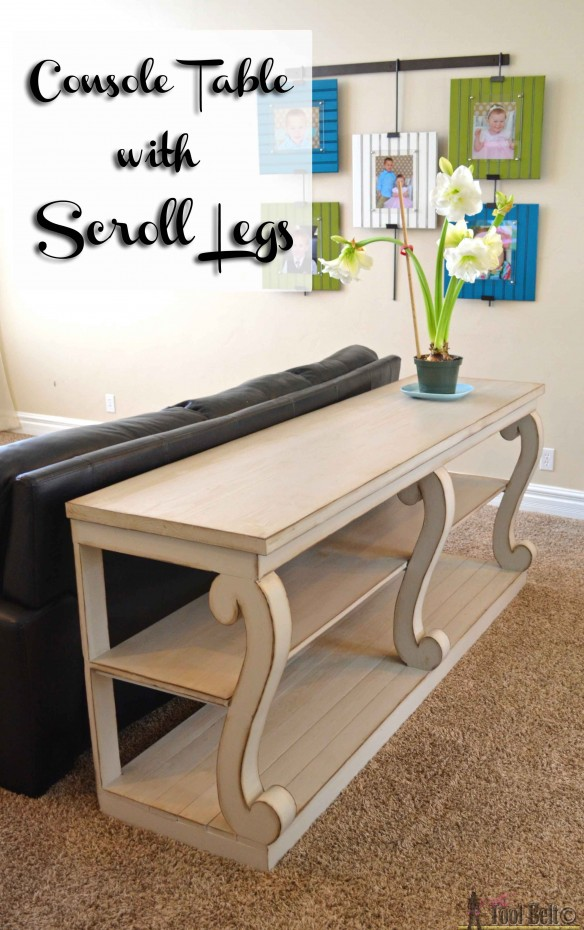 Console table with scroll legs pin copy