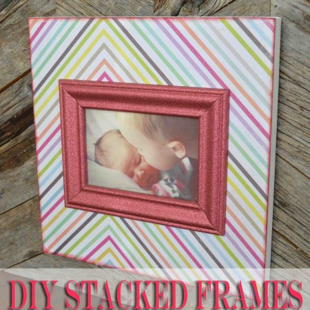 DIY stacked picture frame rustic