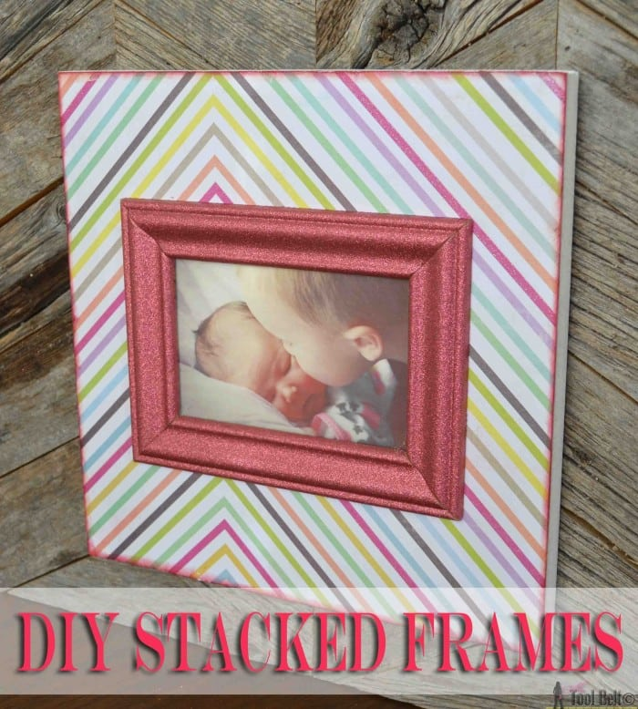 Diy Stacked Picture Frame Made To Be A Momma