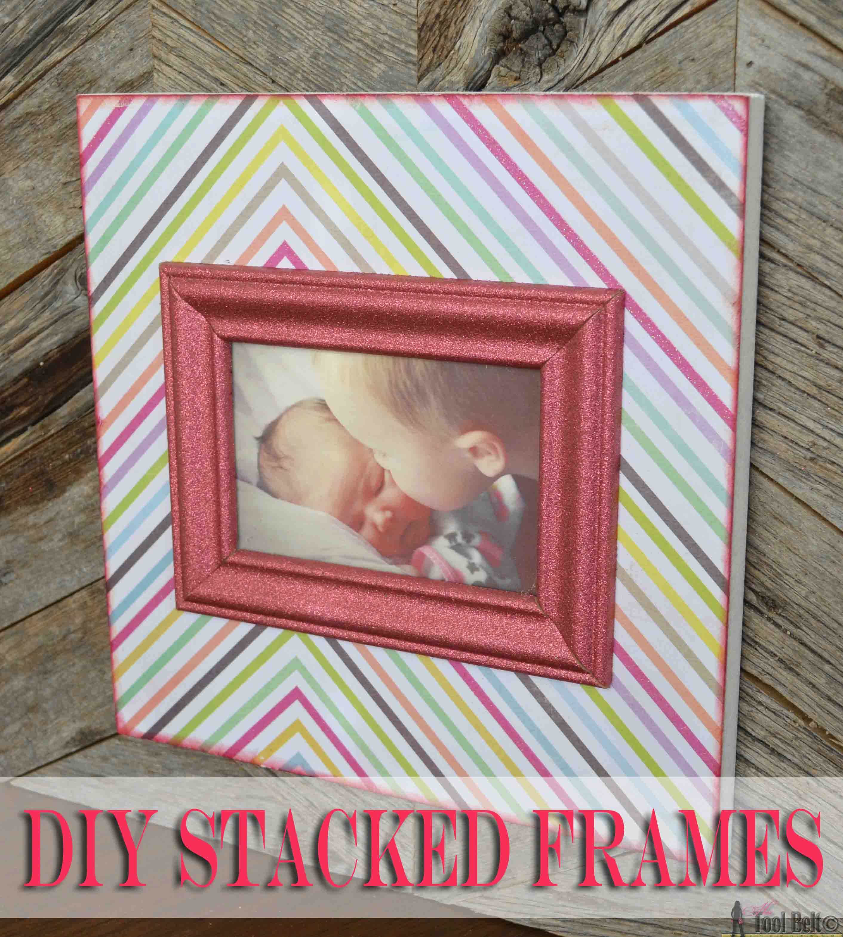 DIY Stacked Picture Frame - Made To Be A Momma
