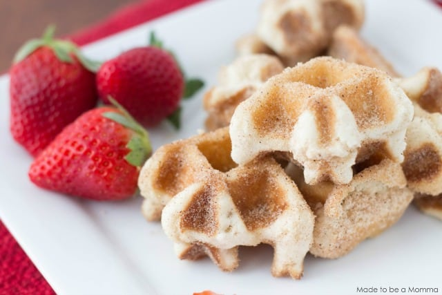 Cinnamon Sugar Waffle Bites - Made To Be A Momma