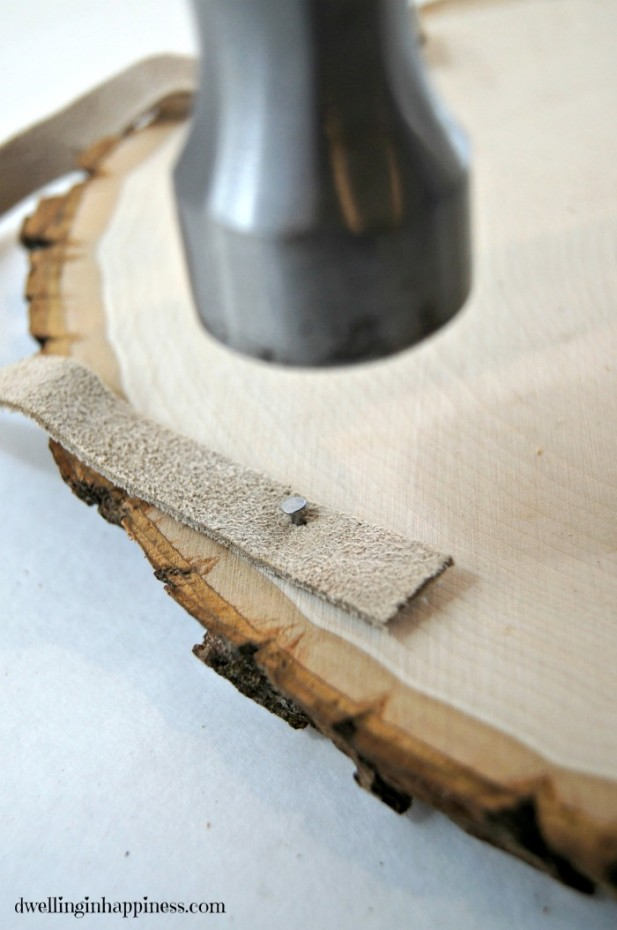 Nailing Suede In Wood
