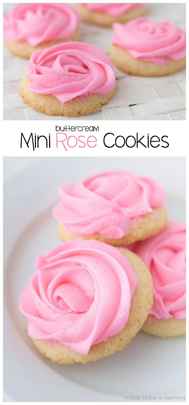 Buttercream Mini Rose Cookies