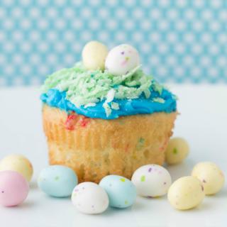 Coconut Egg Cupcakes