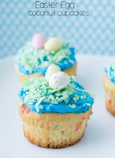 Easter Egg Coconut Cupcakes