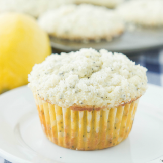 Lemon Poppyseed Crumb Muffins closeup