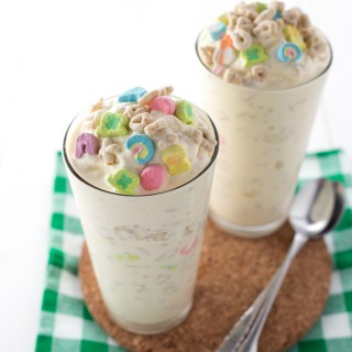 Lucky Charms Avalanches   Similar to a Dairy Queen Blizzard these avalanches are perfect for St.Patricks Day! #icecream #stpatricksday