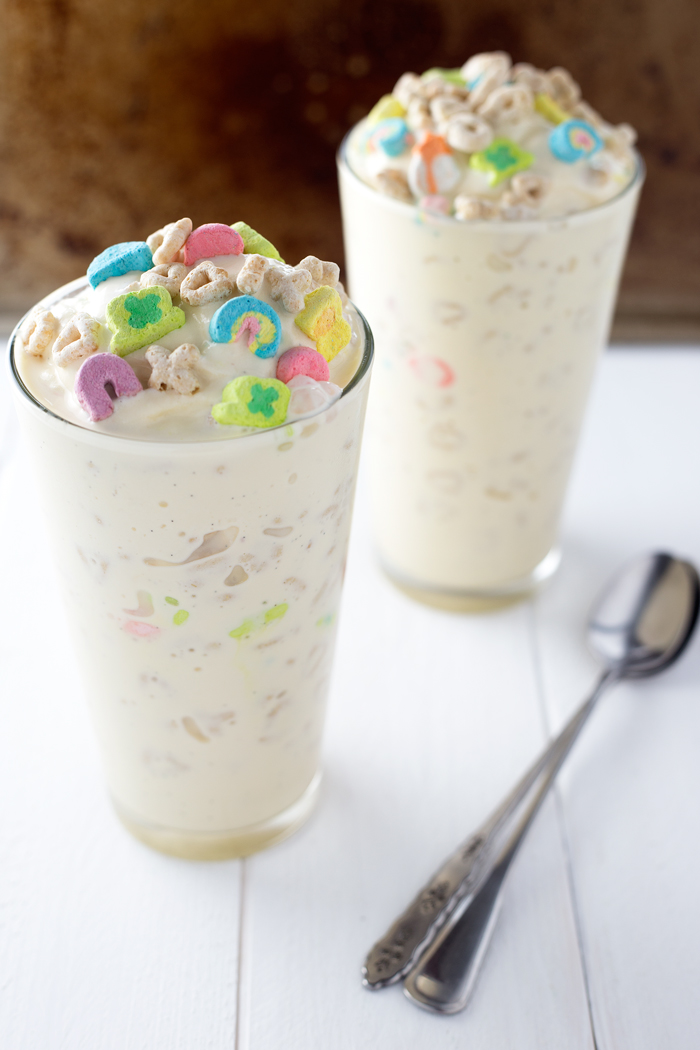 Lucky Charms Avalanches | Similar to a Dairy Queen Blizzard these avalanches are perfect for St.Patricks Day! #icecream #stpatricksday