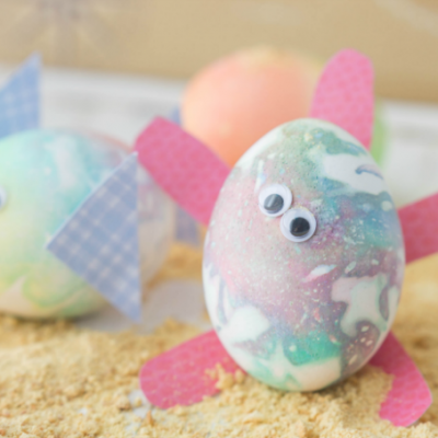 Sea Friendly Tie Dye Easter Eggs