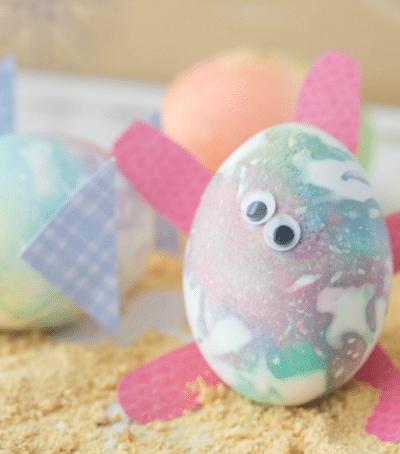 Sea Friendly Tie Dye Easter Eggs