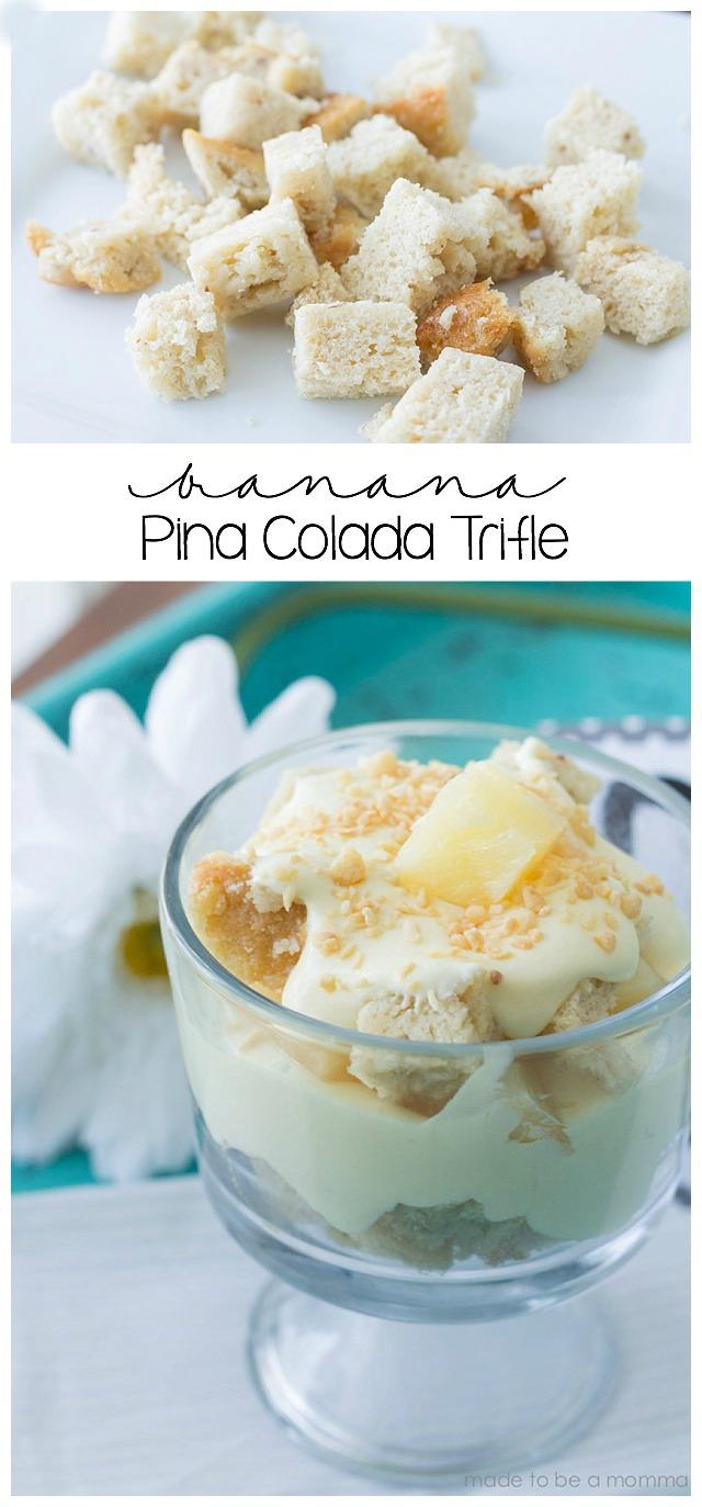 Banana Pina Colada Trifle