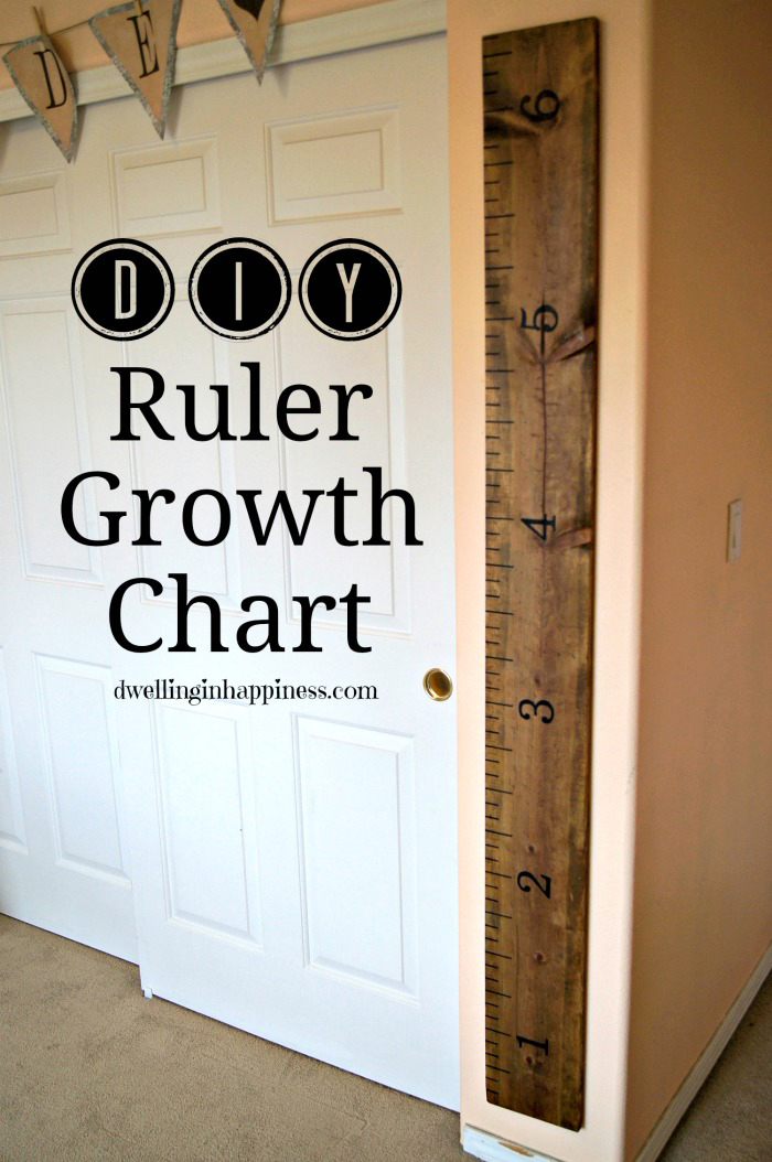 Diy ruler growth chart made to be a momma