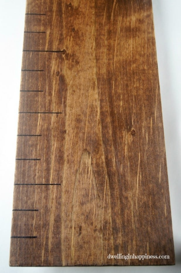 Growth Chart black ruler lines