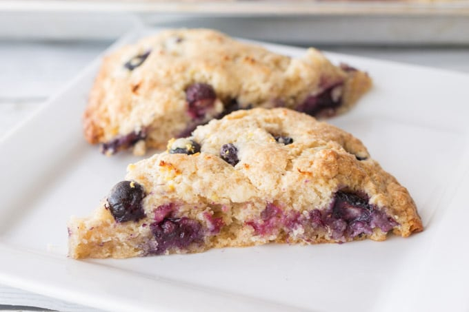 Lemon Blueberry Scones - Made To Be A Momma