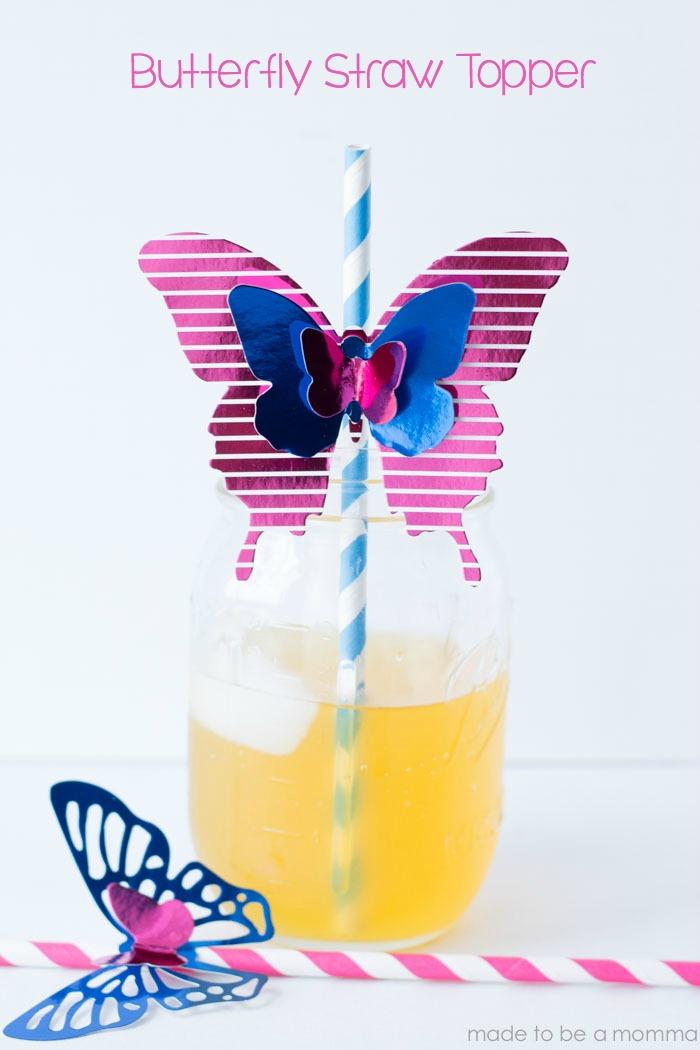Butterfly Straw Topper