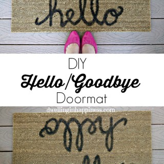 DIY HelloGoodbye Doormat from Dwelling in Happiness