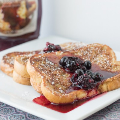 French Toast with Blackberry Syrup
