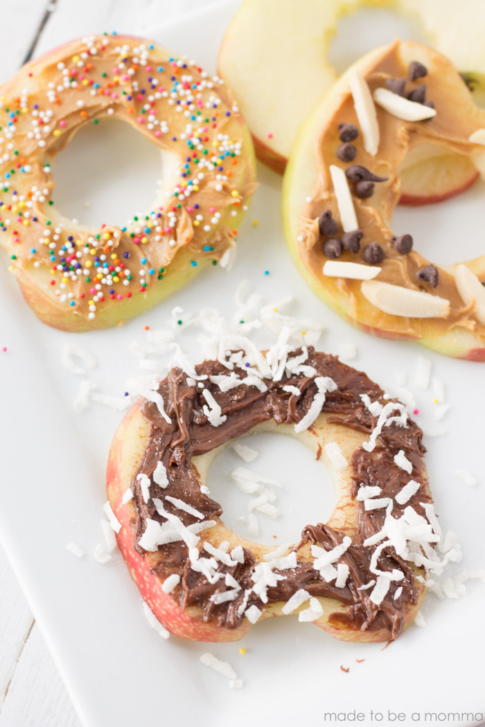 "These Apple ""Cookies"" are a perfect kid friendly treat that is healthy too!"