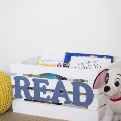 Diy Kids Book Crate