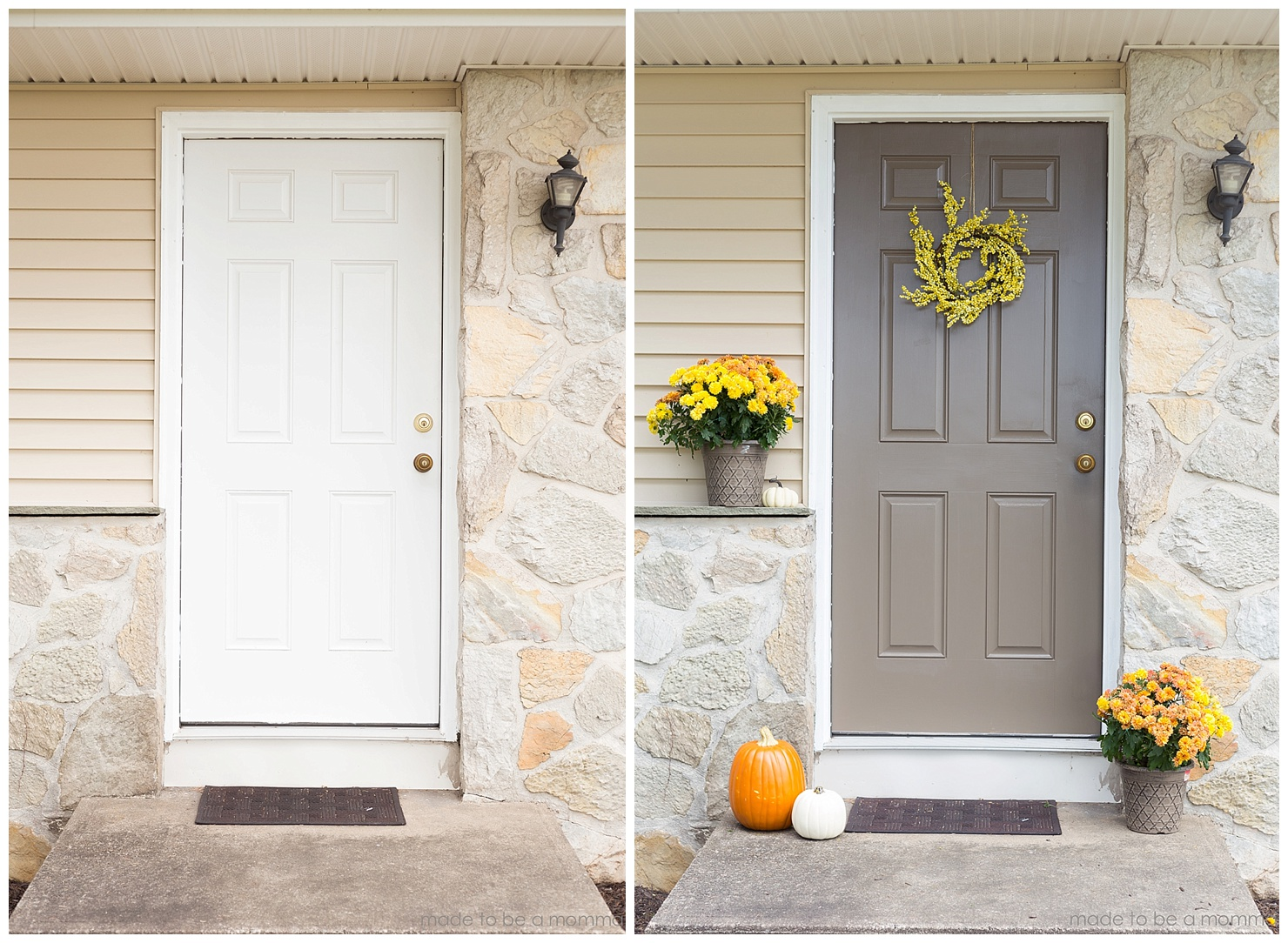 How To Paint A Front Door how to paint a front door | made to be a momma