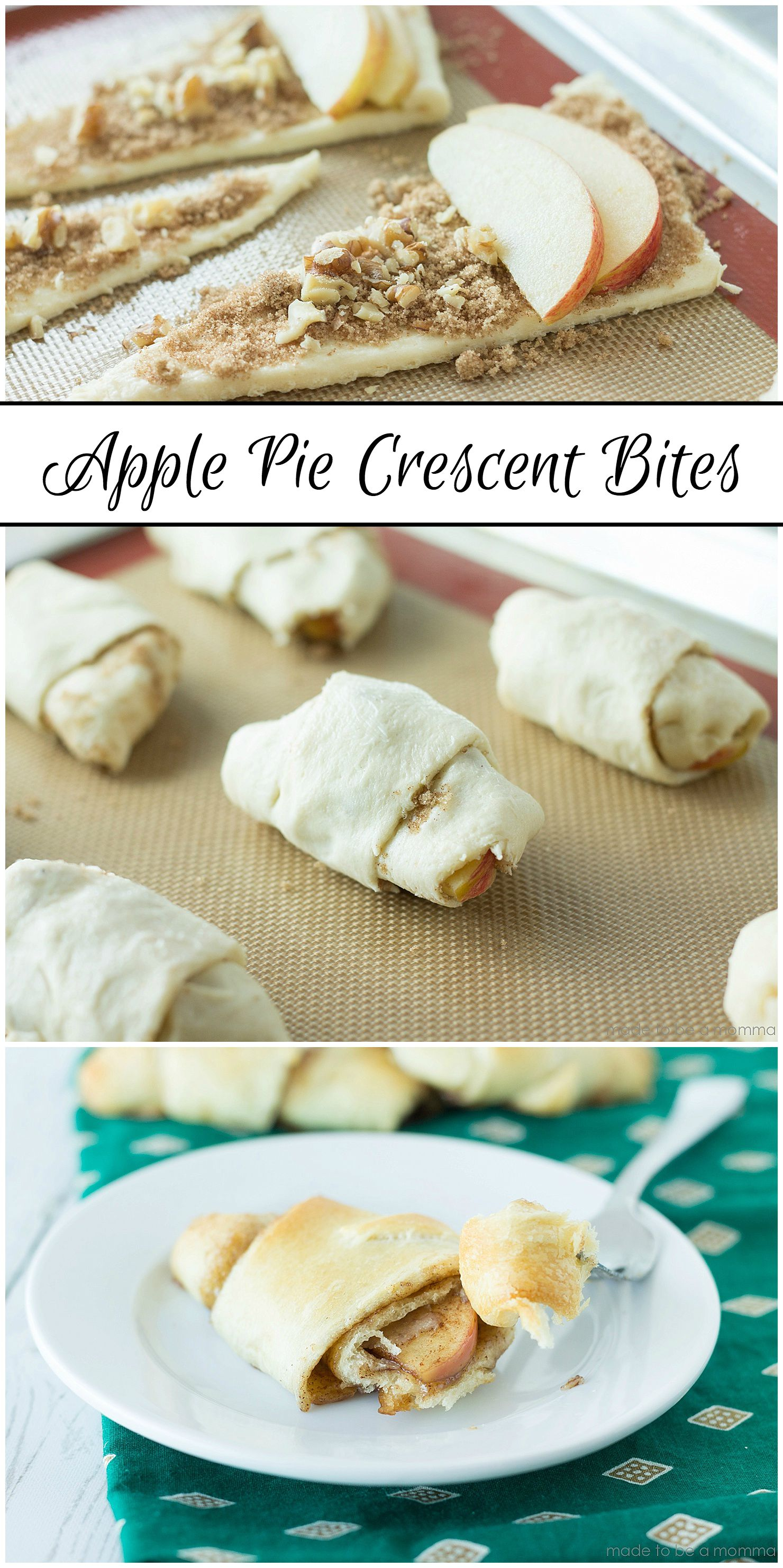 Apple Pie Crescent Bites: recipe at madetobeamomma.com