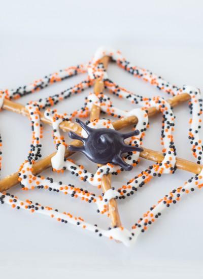 Spider Web Pretzels