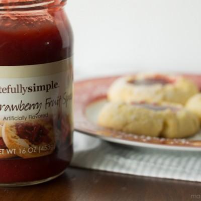 Almond Rhubarb Strawberry Cookies
