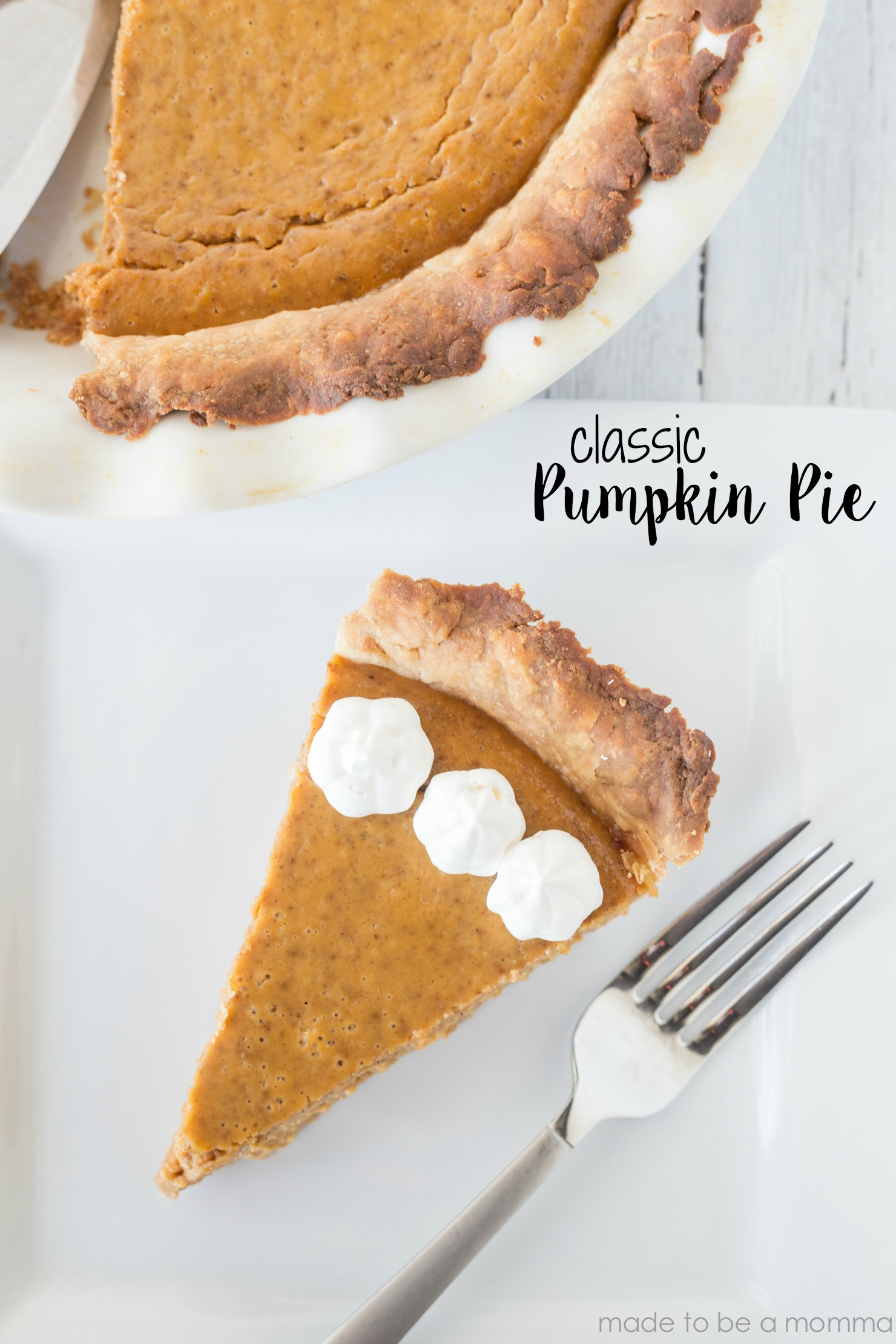 This Easy Pumpkin Pie Recipe is so simple and delicious and has a tiny spin off the ole' classic.