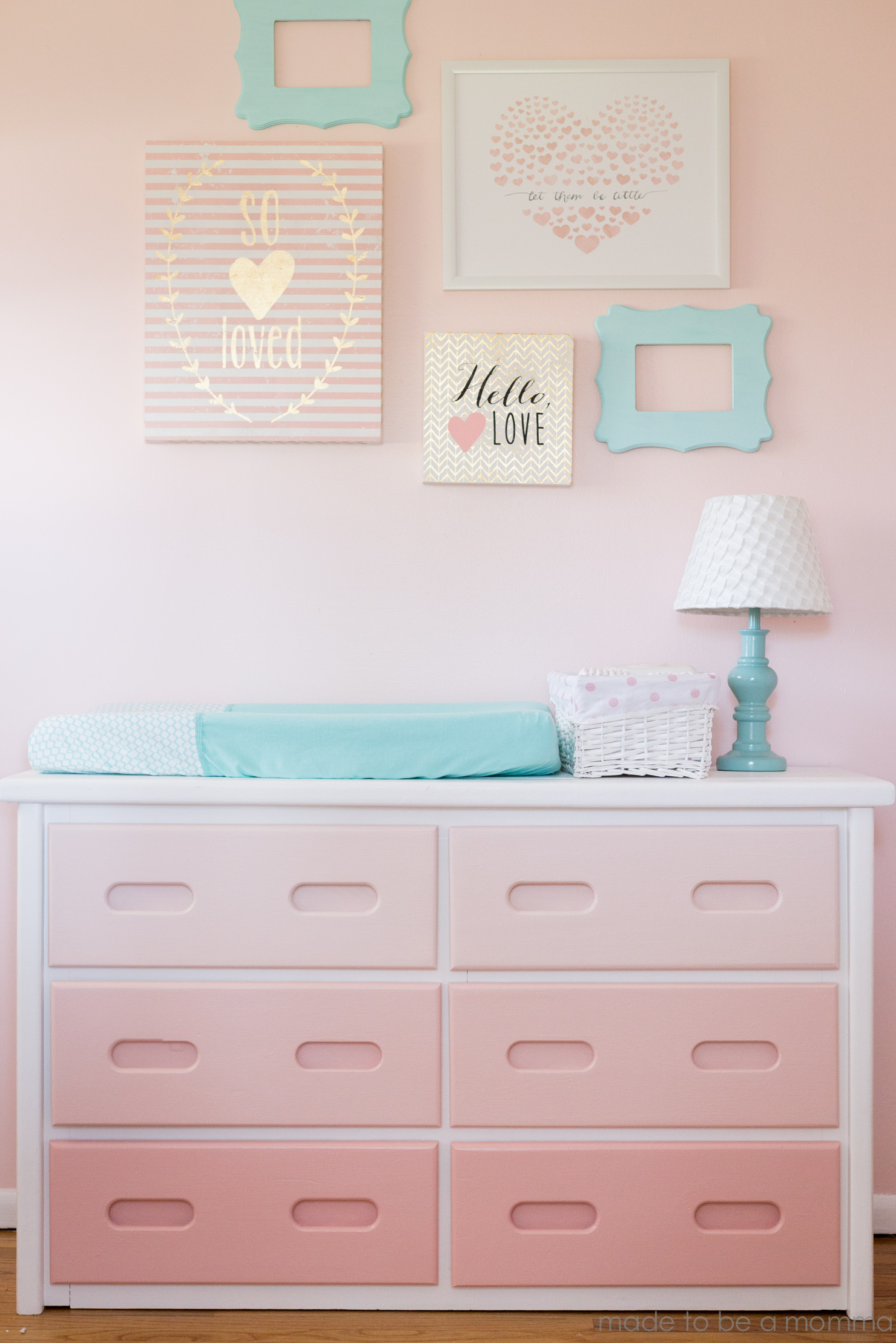 pink girl baby gray with dresser pin new nursery drawer ikea hemnes blue