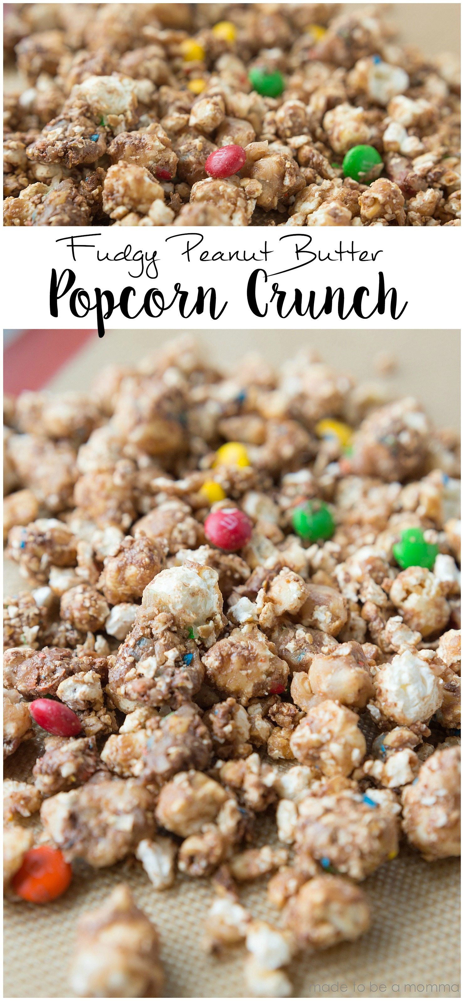 Fudgy Peanut Butter Popcorn Crunch