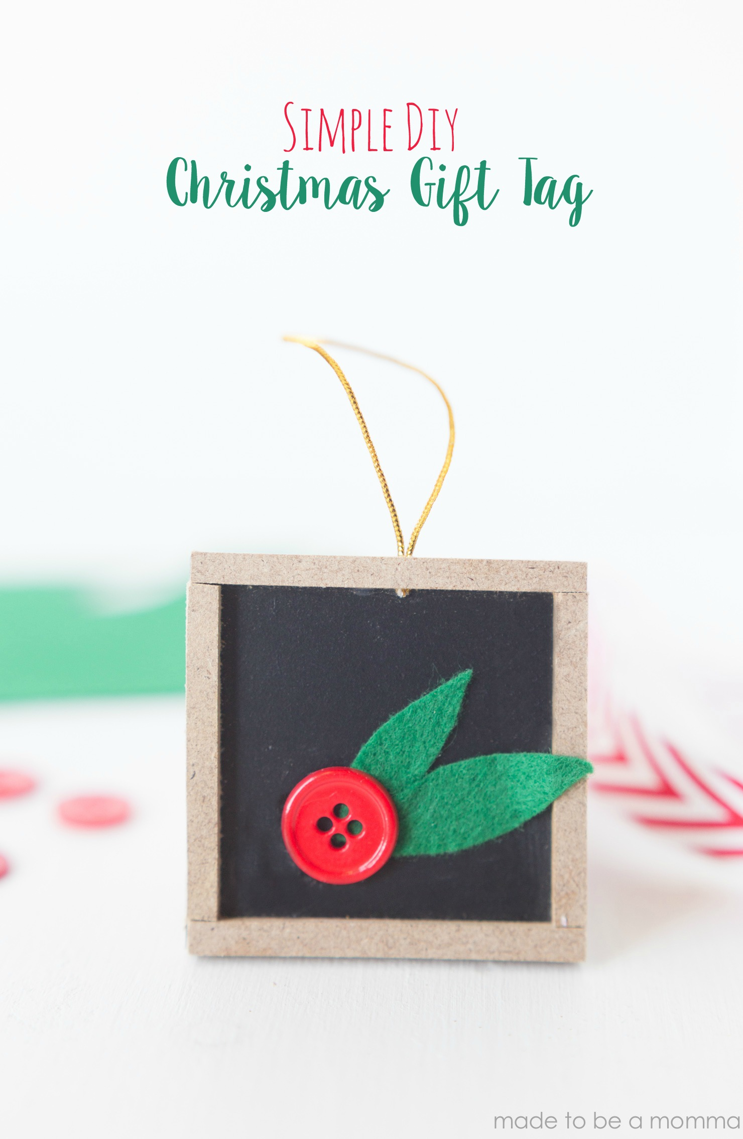 Diy Christmas Gift Tag - Made To Be A Momma