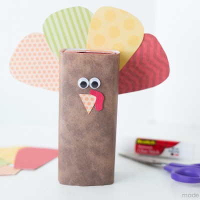 Turkey Juice Box Kids Craft