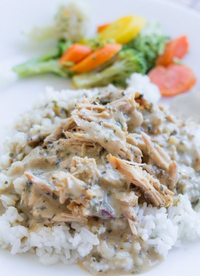 Rustic Herb Shredded Pork & Rice